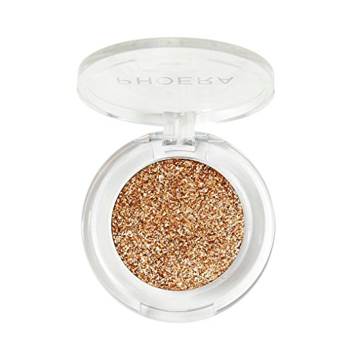 (Yeefant Silky Sheen Glitter Shimmering Brightening Eyeshadow Metallic Makeup Cosmetic for Daily Makeup or Special Events(08))