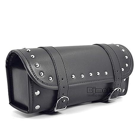 BJ Global negro sillín para moto de piel sintética bolsas ...