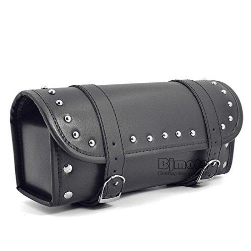 BJ Global Cuir PU Noir pour moto Selle Sacs côté Cruiser Outil Queue Sac de voyage Sac de guidon NEUF