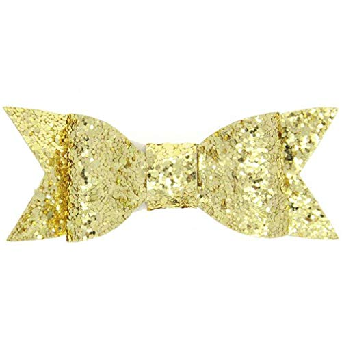DARLING HER 2 Pcs/Lot Sequins Hair Bows Girls Gold Silver Ha