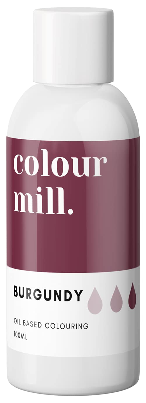 Colour Mill Oil-Based Food Coloring, 100 Milliliters Burgundy