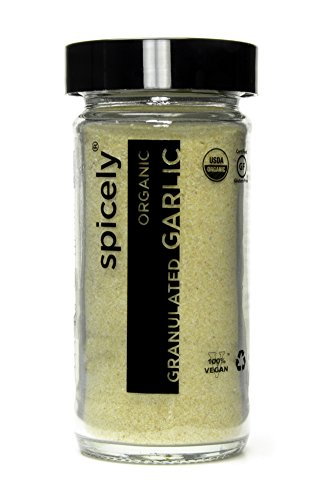 Spicely Organic Garlic Granulates 2.00 Ounce Jar Certified Gluten Free