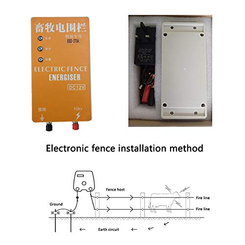 Pengxuehuang 10KM Electric Fence Energizer Charger Waterproof Anti-dust Animals Electric Fencing Controller for Farm