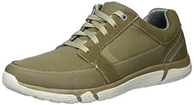 Skechers Men's Edmen-Riston Sneaker,khaki,9.5 M US