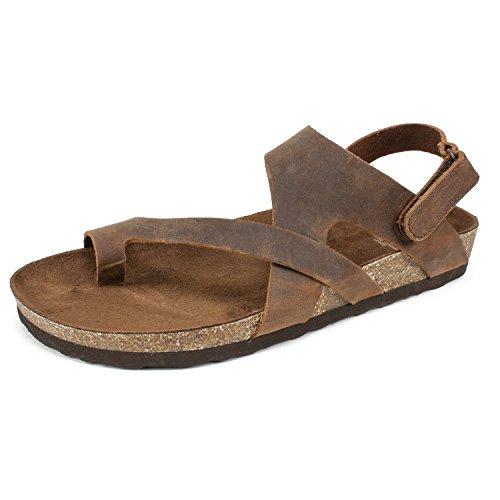 White Mountain Shoes Huntsville Women's Sandal, Brown/Leather, 7 M (Mountain White Shoes Women)