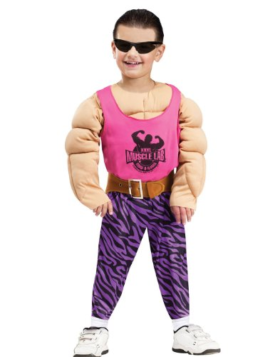 Baby Weightlifter Costume (Toddler Totally Pumped Muscle Costume, Large 4-6)