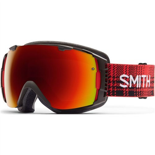 Smith Optics I/O Adult Interchangable Series Snocross Snowmobile Goggles Eyewear - Woolrich Hunter/Red Sol X Mirror / Medium by Smith Optics
