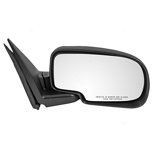 (Manual Side View Mirror Passenger Replacement for Chevrolet GMC Pickup Truck SUV 25876715)