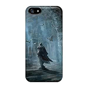 Shock-Absorbing Hard Cell-phone Cases For Iphone 5/5s (ARh7135OTON) Unique Design Vivid Assassins Creed Iii Pictures