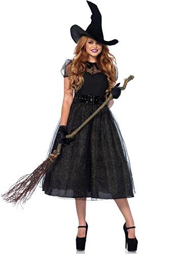 Leg Avenue Women's Darling Spellcaster Costume, Black, X-Large (2016 Halloween Adult Costumes)