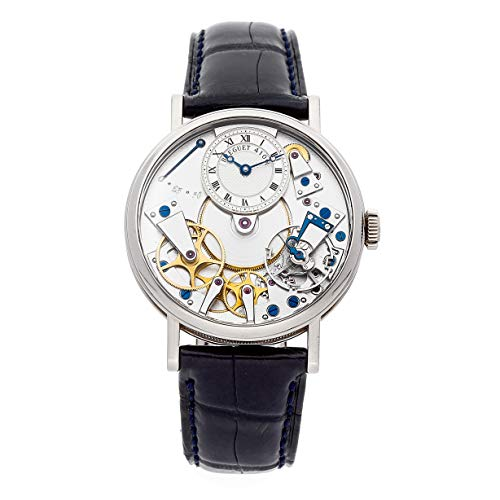 Breguet Tradition Mechanical (Hand-Winding) Skeletonized Dial Mens Watch 7027BB/11/9V6 (Certified Pre-Owned)