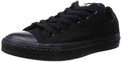 Converse Chuck Taylor All Star Low Top Black Monochrome Sneakers  - 3 D(M) US