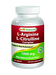Best Naturals Arginine Citruline Complex 1000 mg 120 Tablets
