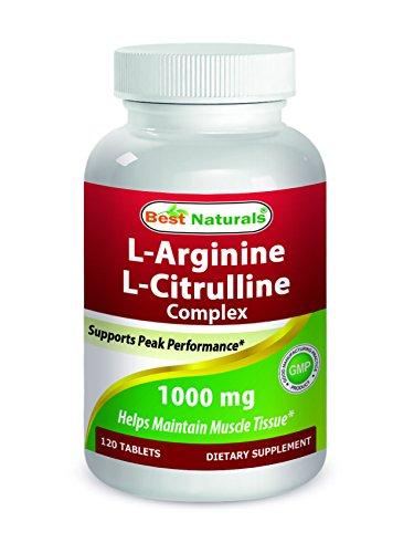 L-arginine L-citrulline Complex - Best Naturals Arginine Citruline Complex 1000 mg 120 Tablets