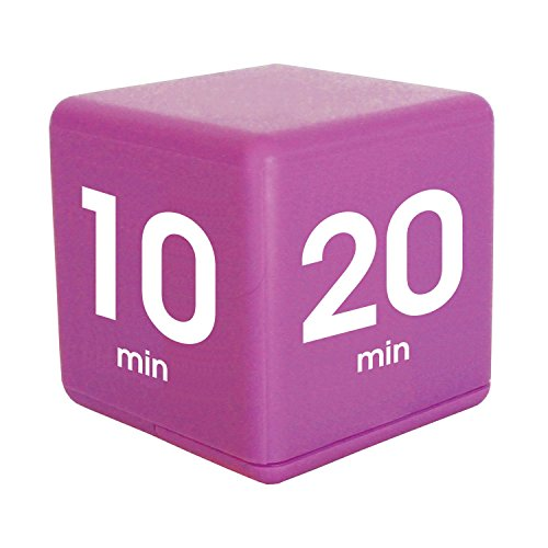 The Miracle TimeCube Timer, 5, 10, 20 and 30 Minutes, for Time Management, Kitchen Timer, Kids Timer, Workout Timer, Purple