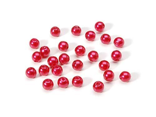 Jewelry Designer 04658 Pearls Round Red 6Mm 120Pc