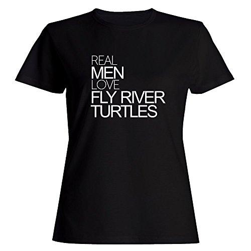 Idakoos Real Men Love Fly River Turtles - Animals - Women T-Shirt