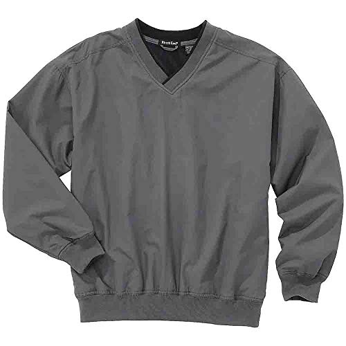 Rivers' End Mens Lined Microfiber Windshirt Athletic Jacket Grey L