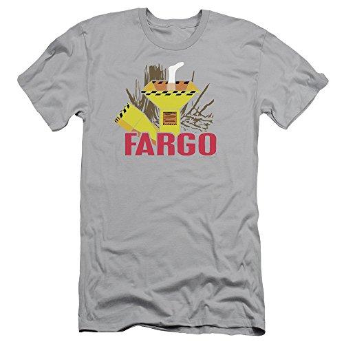 Fargo Classic 1996 MGM Film Woodchipper & Foot Silhouette Adult Slim T-Shirt - Men Macys Sf