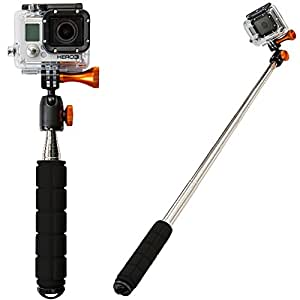 XShot Pro Camera Extender for GoPro and Digital Cameras - All Metal Construction with 360° Ballhead - XSPRO