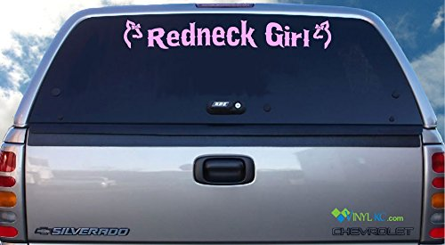 Bow Front Bubble (Redneck Girl Windshield Decal - Browning Does with Bows)