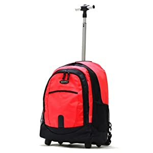 Olympia Luggage Sports Plus 19 Inch Rolling Backpack, Red, One Size