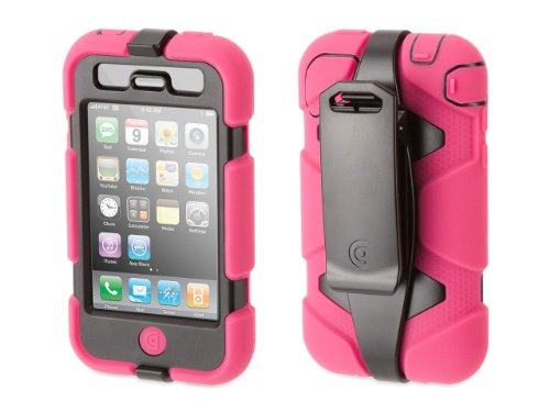 Griffin Pink/Black Survivor All-Terrain Case for iPhone 3G/3GS - Extreme-duty case