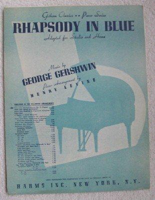 Vintage Piano Sheet Music (Rhapsody in Blue, Gotham Classics Piano Series, 1939 (Gotham Classics No. 3))