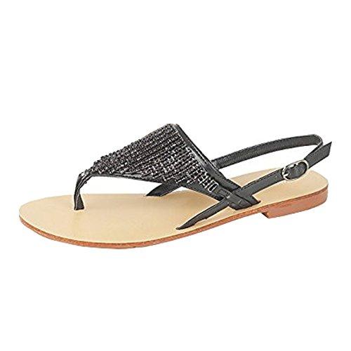Saute Styles - Sandalias de vestir para mujer negro