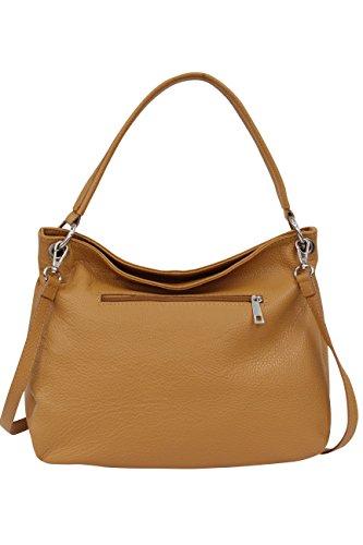 para GL002 claro varios Bolso Moda cuero de marrón en colores Ambra mujer auténtico xw1Y4q45