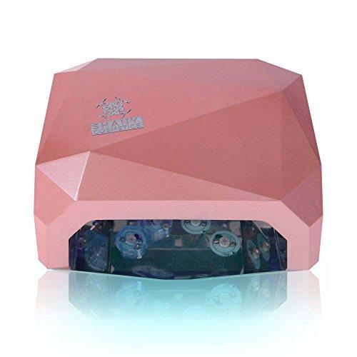 Шани Косметика Портативный 12W светодиодные ногтей сушилка, светло-розовый