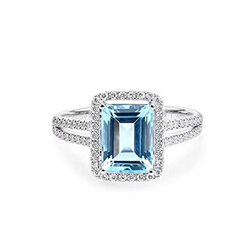 pimchanok shop Fashion Women Jewelry Statement Ring 925 Silver Wedding Jewelry Gemstone Ring Gift Size 8 by Bniweim