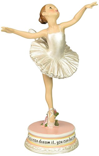 Ballet Collection Joseph's Studio Exclusive Dancing Ballerina Figurine with The Verse If You Dream It, You Can Become It, 7-Inch]()