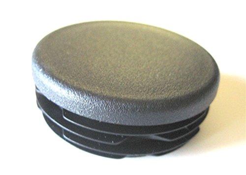 Pack quot round black plastic hole plug cap pipe post