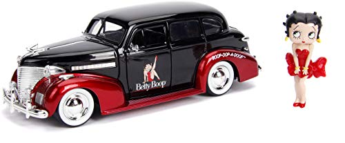 Jada Betty Boop & 1939 Chevy Master Deluxe- 1: 24 Die-Cast Vehicle with2.75 Die-Cast Figure