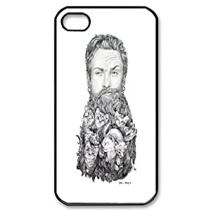 Fun Series, IPhone 4/4s Cases, Kitten Beard Cases for IPhone 4/4s [Black]