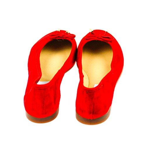 EYE Damen Ballerinas Leder Rot