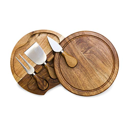 (TOSCANA - a Picnic Time Brand Brie Acacia Wood Cheese Board Set with Cheese Tools)