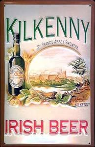 Kilkenny Irish Bier geprägt Wandschild aus Stahl (Hi 3020)
