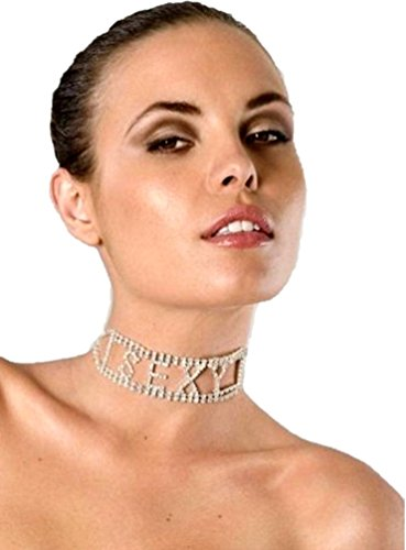Desire Fashions Clear Rhinestone Sexy Choker Necklace Costume Accessory Jewelry Naughty Gift