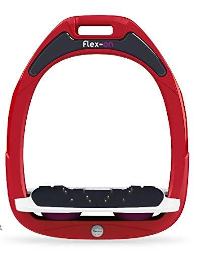【 限定】フレクソン(Flex-On) 鐙 グリーンコンポジットレンジ Mixed ultra-grip フレームカラー: レッド フットベッドカラー: ホワイト エラストマー: プラム 26683   B07KMQN49X