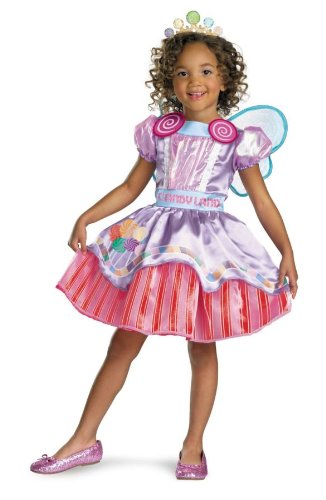 Candyland Deluxe Girl Costume, Toddler (3T-4T)
