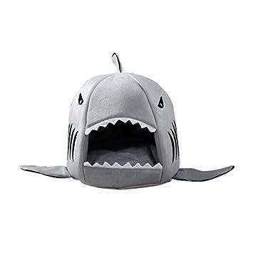 Xinjiener Mascota tiburón Cama cálido Interior Gatito Perro Gato sofá Cama Puppy Mascota casa con tapete (Gris pequeño tamaño): Amazon.es: Productos para ...