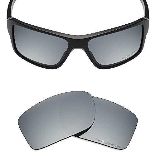 Mryok+ Polarized Replacement Lenses for Oakley Double Edge - Silver ()
