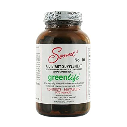 Sonnes Greenlife No 10 Tablets, 360 Count: Amazon.es: Salud ...