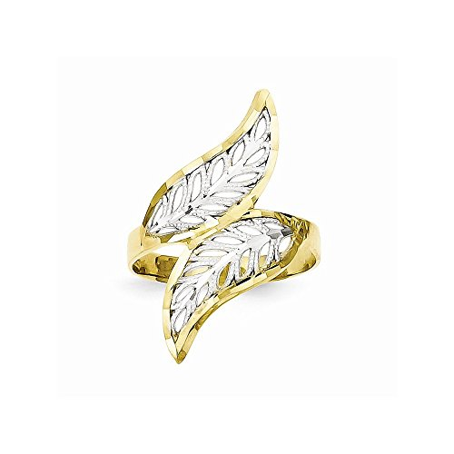 10k & Rhodium Dia-Cut Filigree Ring
