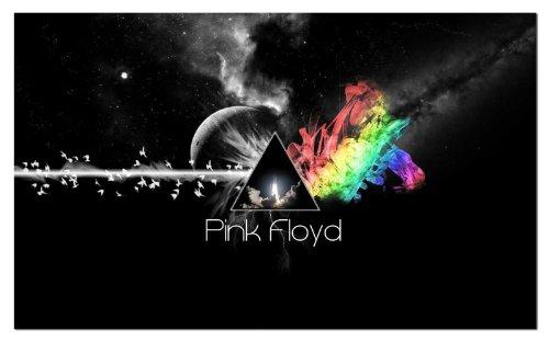 NEOPlex Pink Floyd Moon and Rocket Traditional Flag (Pink Floyd Flag)