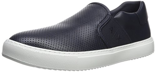 Perforated Sneaker Navy Men Exchange X on A Armani Slip wIBfx0