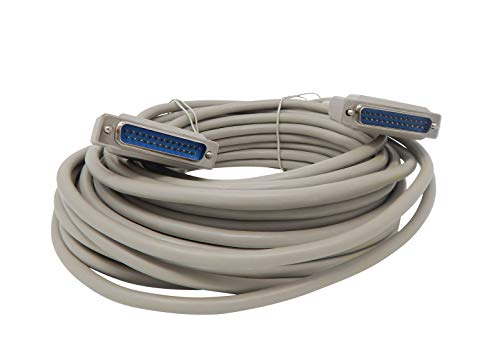 Your Cable Store 50 Foot DB25 25 Pin Serial Port Cable Male/Male RS232