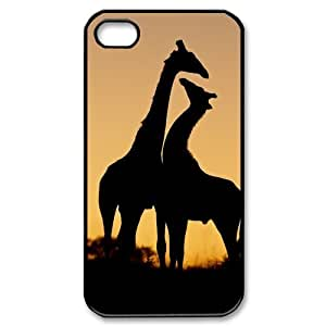Giraffes iPhone 4 4s Case Hard Plastic iPhone 4 4s Case Fancy iPhone Case for 4 4s